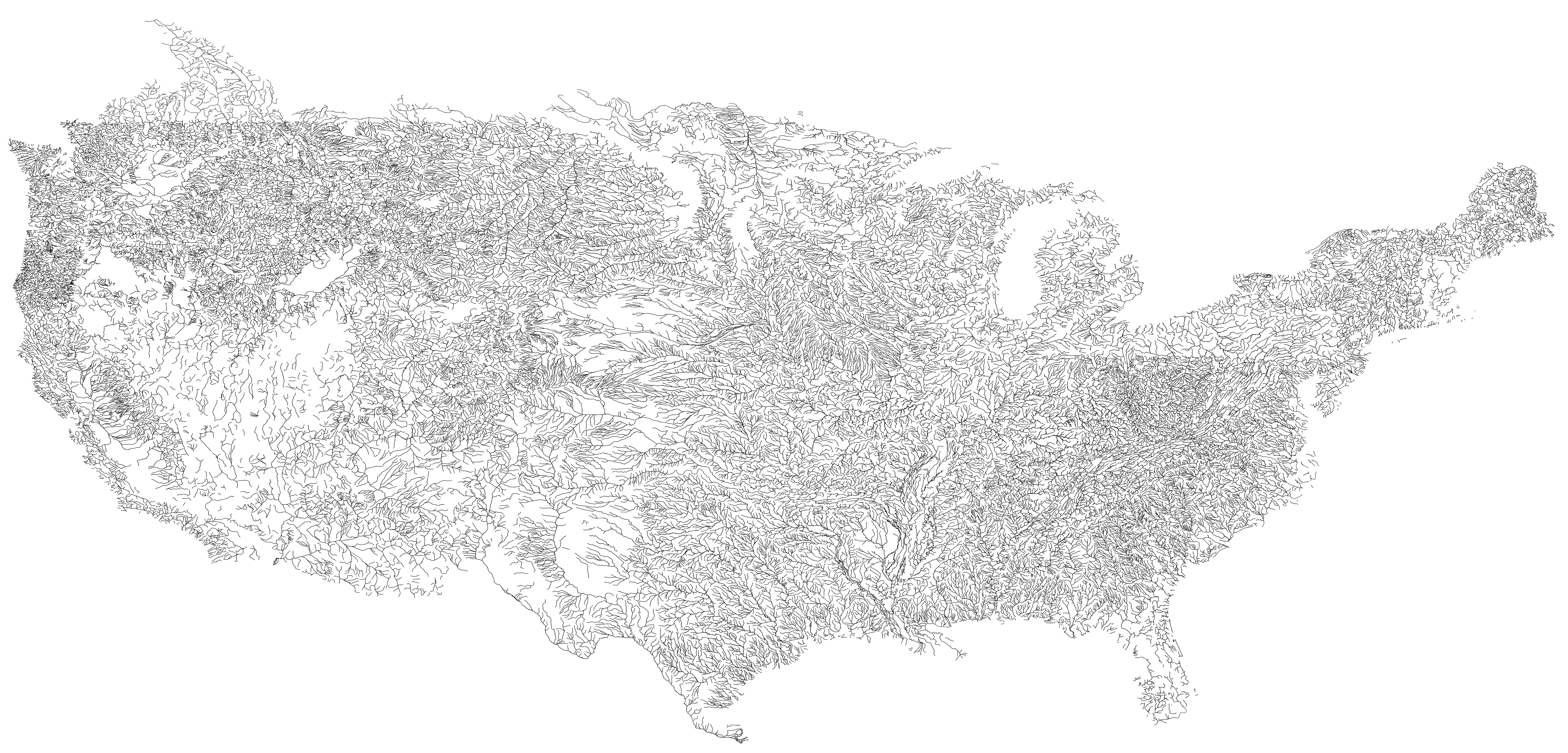 US Roads And Nothing Else X MapPorn - Blank us county map